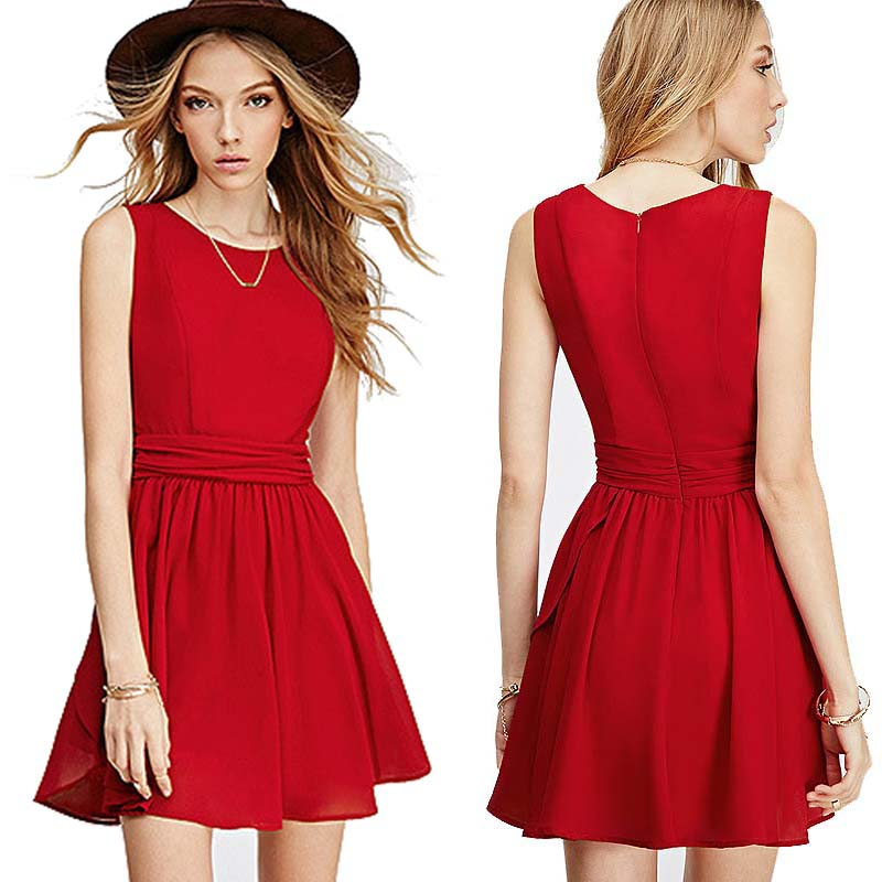 Red A Line Dress (Size S,M)