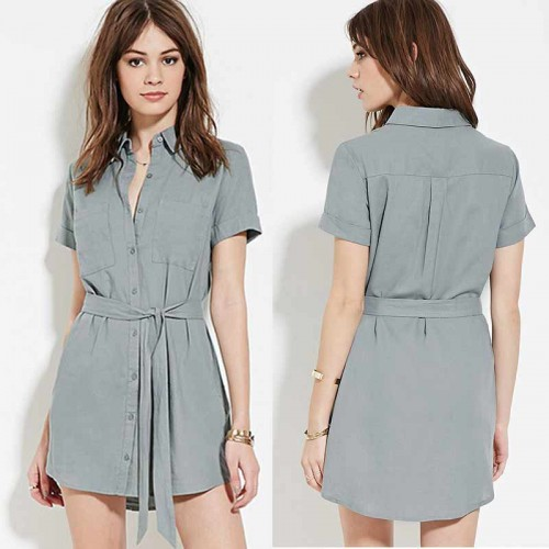 Collar Button Dress