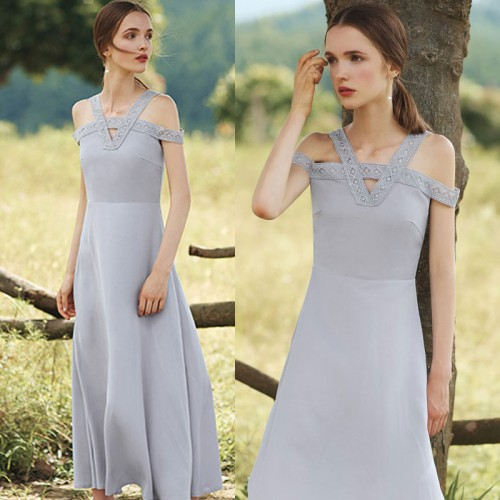 Off Shoulder Elegant Long Dress