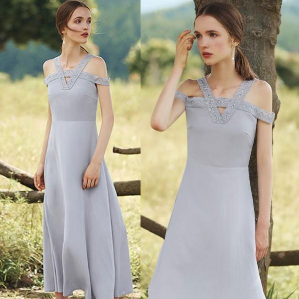 Off Shoulder Elegant Long Dress