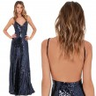 Backless Long Shimmering Dress (size S,M)