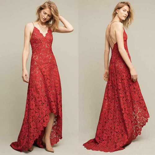 Irregular Lace Dress (FREE Stick On Bra) (Size M)