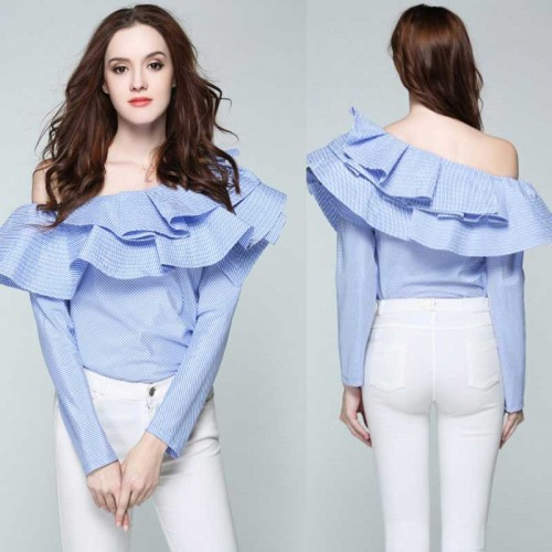 Off Shoulder Ruffles Top (Size M)