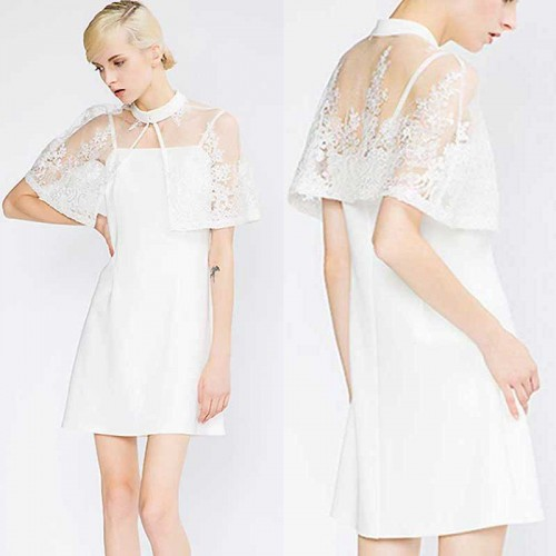 Lace Cape Dress (Size S,M)