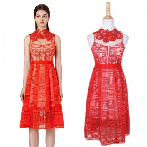 Red Lace A Dress