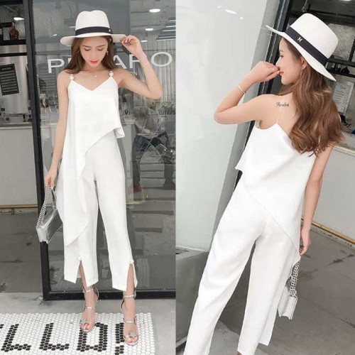 Elegant Two Piece Wear (White)