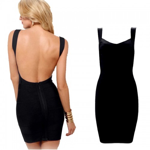 Sexy Back Bandage Bodycon Dress