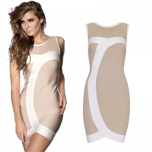 Simple Elegant Bandage Bodycon Dress