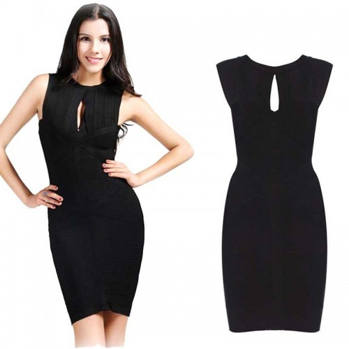 Sexy Cut Out Bandage Bodycon Dress