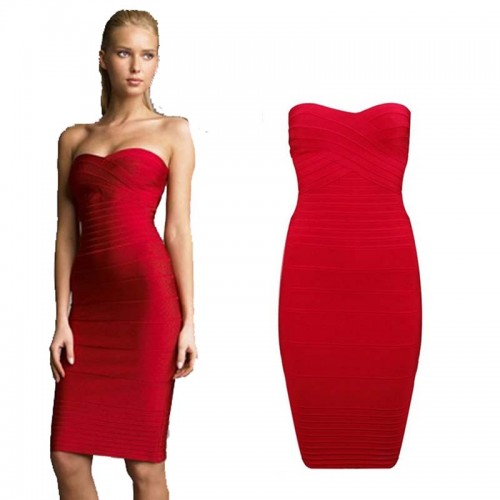 Colorful Bandage Bodycon Tube Dress