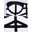 Black&White 2 Piece Bodycon Bandage Dress