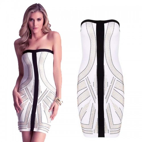 Beading Bodycon Bandage Dress