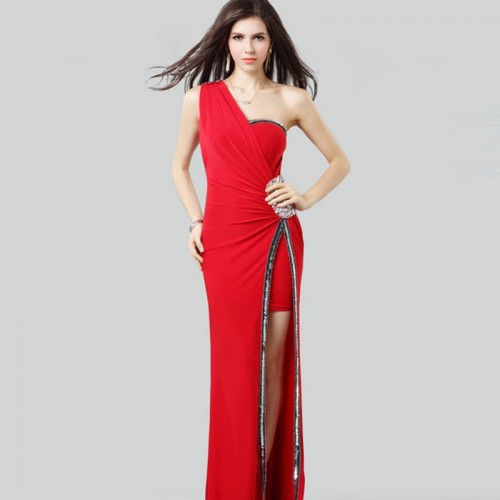 One Shoulder Long Tago Dress