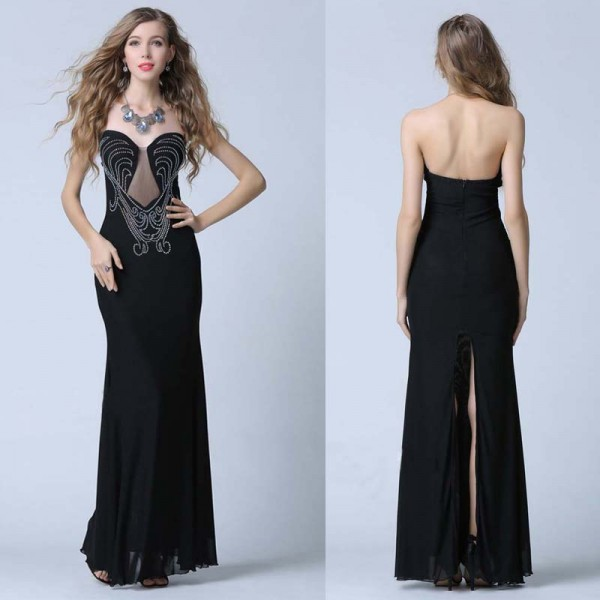 Sweet Heart Evening Dress (Free Stick On Bra)