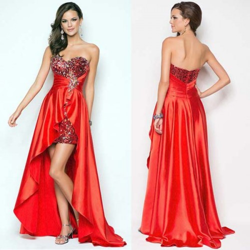 Sequin Irregular One Shoulder Evening Dress