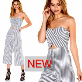 STRAPPY WAIST CUT OUT JUMPSUIT
