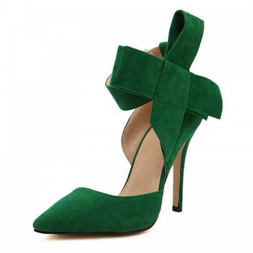 Green Ribbon Cover Heels