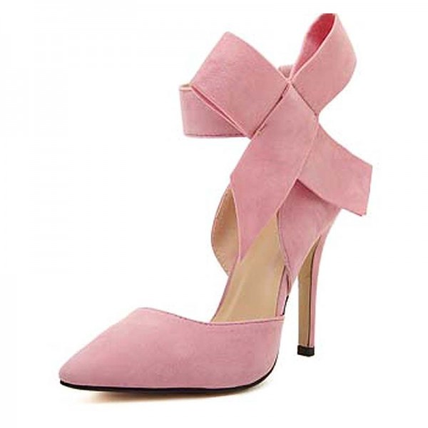 Pink Ribbon Cover Heels