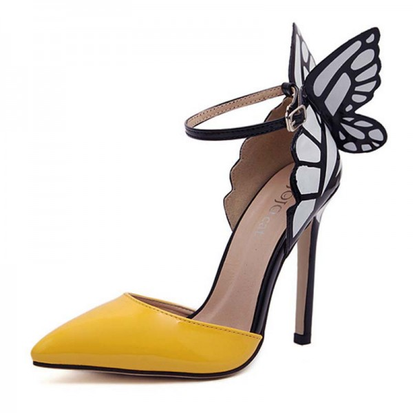 Butterfly Inspired Half Covered Heels