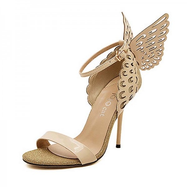 Gold Butterfly Inspired Metalic Heels