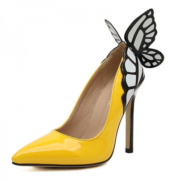 Butterfly Inspired Covered Heels