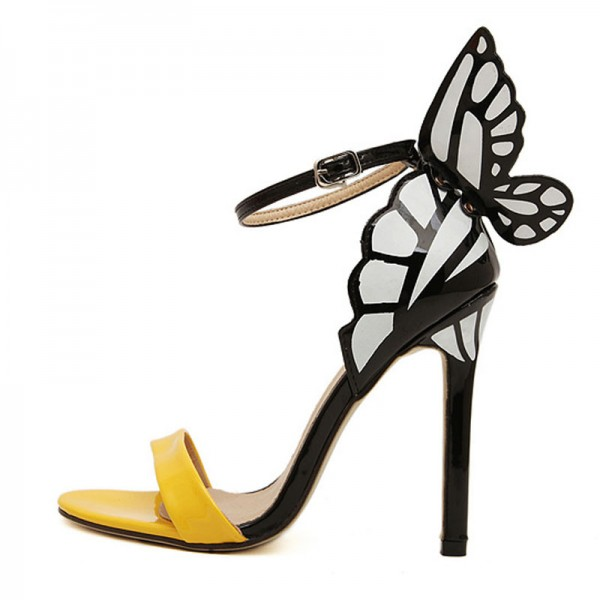 Butterfly Inspired Ankle Strap Heels