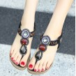Red Tribal Beaded Sandal