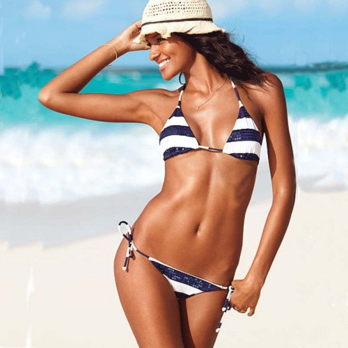 Sequin Stripes Bikini