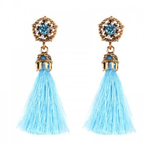 Blue Tribal Ear Ring