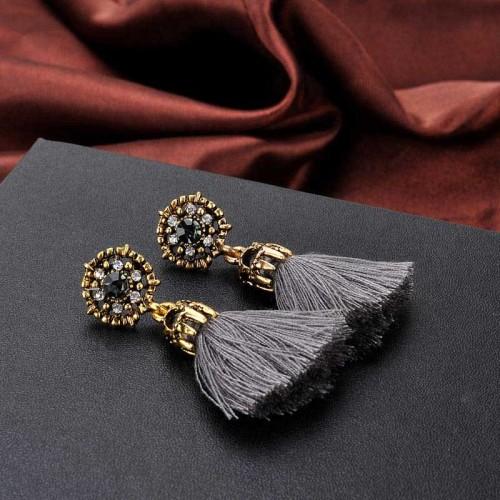 Grey Tribal Ear Ring