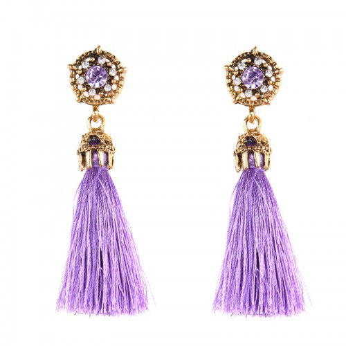 Purple Tribal Ear Ring