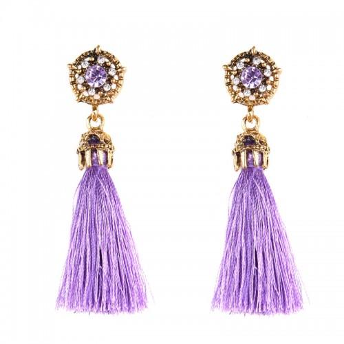 Purple Tribal Ear Ring