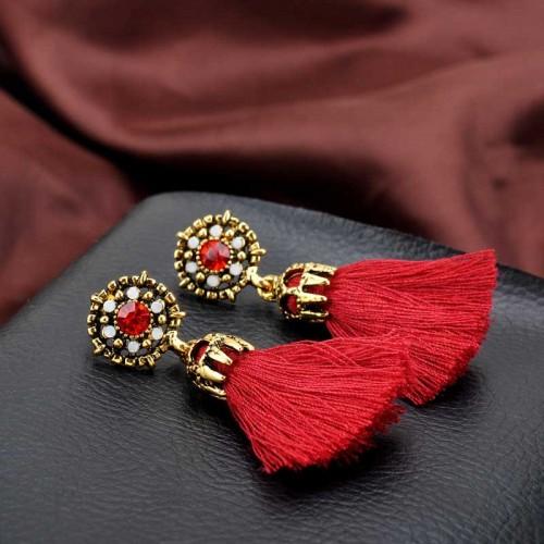 Red Tribal Ear Ring