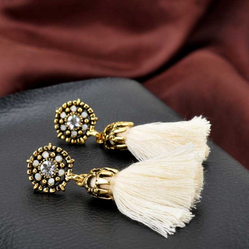 White Tribal Ear Ring